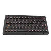 Black titanium vandal proof ruggedized keyboard with industrial backlight Manufactures