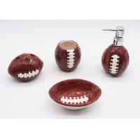 Ceramic Football Bathroom Sets , Rugby Sanitary Ware Bathroom Accessories Set Manufactures