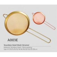 Colored pointed ear stainless steel frying strainer with handle s.s fine mesh strainer Manufactures