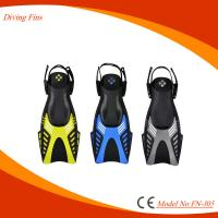 China Professional Short Scuba Diving Flippers With Open Heel Design on sale