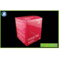 PVC Folding Color Carton , PVC Plastic Blister Packaging Red For Cosmetics Manufactures