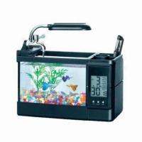 Gift Fish Tank with Multi-functional Clock and LED Light Manufactures
