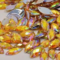 China Glass Material Sew On Rhinestones 14 Facets Extremely Shiny For Dresses / Sweaters on sale