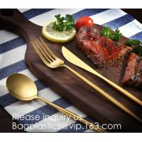 Cutlery Purple Flatware Tianjin Stainless Steel Cutlery,Elegant Design Stainless Steel Flatware Copper Coating Rose Gold Manufactures