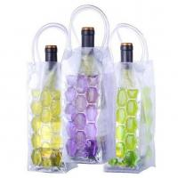 China Non-toxic PVC Cooling Ice Wine Bags Vine Cooler Bag with Freezable Non-toxic Cooling Liquid on sale