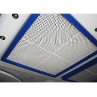 Perforated Metal Suspended Ceiling Tiles with Sound Insulation on Steel / Aluminum Sheet Manufactures
