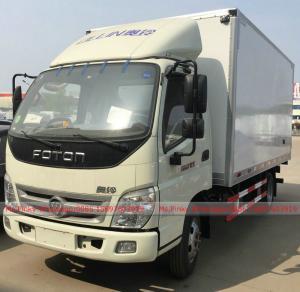 China Foton Refrigerator Van Truck, Foton 5Tons Van Truck for meat fruit vegetable for sales on sale