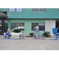 China Long dia ratio 110mm PVC single screw extruder and pelletizing line power 45-18.5kw on sale