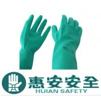 Green Nitrile Industial Gloves Non-disposable Nitrile Gloves Manufactures