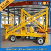 10m Diesel Engine Aerial Trailer Mounted Boom Lift Hire , Towable Articulating Boom Lift Manufactures