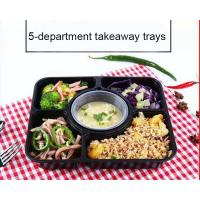 Lightweight Portable Plastic Compartment Food Trays With Soup Cups Microwaveable Manufactures