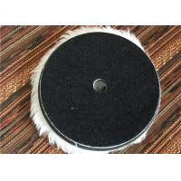 Wool 6 Inch Hook And Loop Polishing Pads , Sheepskin Buffing Pads For Car Cleaning Manufactures