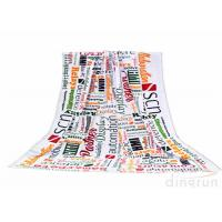 China Plain Style Custom Printed Beach Towels Monogrammed For Travel wholesale