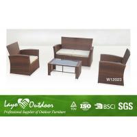 4 Piece Patio Set Wicker Resin Patio Furniture , Deep Seating Outdoor Furniture Light Weight