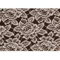 OEM / ODM Customied Brushed Floral Lace Fabric By The Yard Anti-Static CY-LQ0006 Manufactures