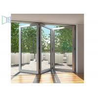 Modern Style Accordion Aluminium Folding Doors Soundproof With Toughened Glass Manufactures