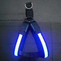 Yellow Optic Fiber Flashing Dog Harness Manufactures