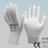 Mining White Polyurethane Pu Coated Hand Gloves For Delicate Operations Manufactures