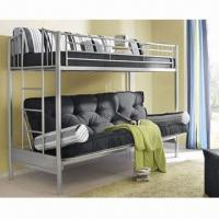 China Metal Futon Bunk Bed, Kids, Sized 190 x 90/140 x 160cm, Mattress Size of 90/137 x 190cm, House Used on sale