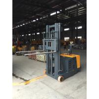 China Counter Balance Electric Pallet Stacker With Pu Wheels Legless Type 1200kg 3300mm on sale