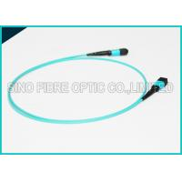 100Gbps 24 Cores MPO Fiber Optic Cable OM4 Non-pinned Fibre Optical Plenum Jacket Jumper Manufactures