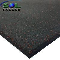 15mm Heavy Duty Area Anti Static  Gym Rubber Flooring Tiles Manufactures