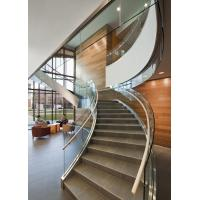 Aluminum glass channel  staircase balustrade Manufactures