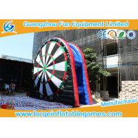 Quality Black Inflatable Football Darts Inflatable Score Board With 0.55mm PVC for sale
