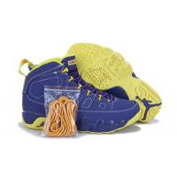 Retro Jordan 9 shoes Yellow and Purple Blue Men Basketball Sneakers 046 Manufactures