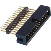 2.54 Pitch Box Header Connector add housing H=2.5 PA9T black  matting with 5212/2185 ROHS Manufactures
