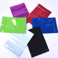 Quality Colorful Mylar Ziplock Bag Smell Proof Food Storage Metallic Foil Airtight Bags Plastic Candy Packaging Pouch Flat Heat for sale
