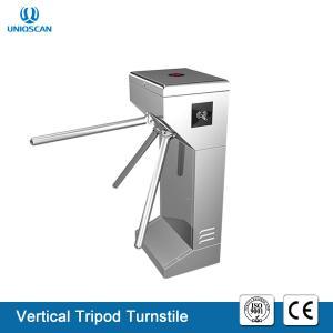 China Portable Vertical Tripod Security Gates , Pedestrian Turnstile Gate 35 Person / Min Speed on sale