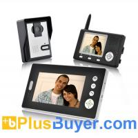 "China Double Vision Guardian - 1/4"" CMOS Wireless Video Door Phone w/ Two Indoor Screen Receivers on sale"