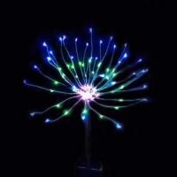 Yard Pathway Solar Operated Fireworks Lights With 120 LEDs Warm White Manufactures