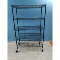 China Carts Racks NSF Steel Shelving Powder Coated Surface Long Life Span Stable on sale