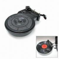 China Turntable Player with 3-speed Switchable, 1W Power, 150mV Audio Output and Belt Drive System on sale
