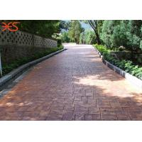 Red Demoulding Stamped Concrete Release Powder For Fresh Poured Textured Floors Manufactures