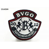 Event Embroidered Badges Patch Overlock For Uniform / Shoes / Caps Manufactures
