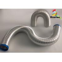 Elastic Collapsible Aluminum Air Duct Heat Resistant Customized With 9mm Ripple Manufactures