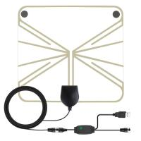 Local Channels Amplified Indoor Hdtv Antenna 4K 1080P VHF UHF With Signal Amplifier Manufactures