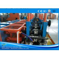 Cold Rolled Coil SS Tube Mill Machine , Square Tube Mill Friction Saw Cutting Manufactures
