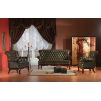China Classical antique Europe style chesterfield leather sofa set on sale