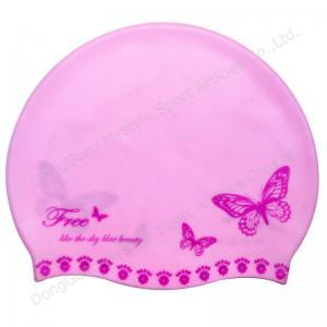 Quality custom design silicone swim caps for sale