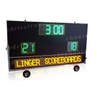 2 Teams Wireless Baseball Scoreboard , Portable Digital Scoreboard With Wheels Manufactures