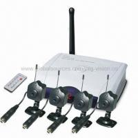 2.4GHz Wireless Spy Hidden Pinhole Four Camera Kit, Hidden Camera (GV2-WU602*4-2.4 /RC602+4*CM300) Manufactures