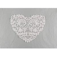 French Guipure Venice Lace Cotton Lace Neck Applique Water Soluble For Blouses Manufactures