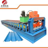 CE Trapezoidal Sheet Roll Forming Machine Making 699mm Width IBR Roofing Panel Manufactures