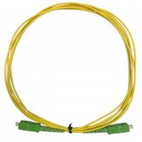 Buy cheap Single Mode Simplex 2.0mm Optical Fiber Patch Cord SC APC Green Connecter from wholesalers