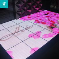 China Magnet Wireless Connected Led Light Dance Floor With Audio Control Pressure Sensor on sale