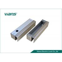 Narrow Bolt Lock Brackets Steel U Bracket For Frameless Glass Door Manufactures